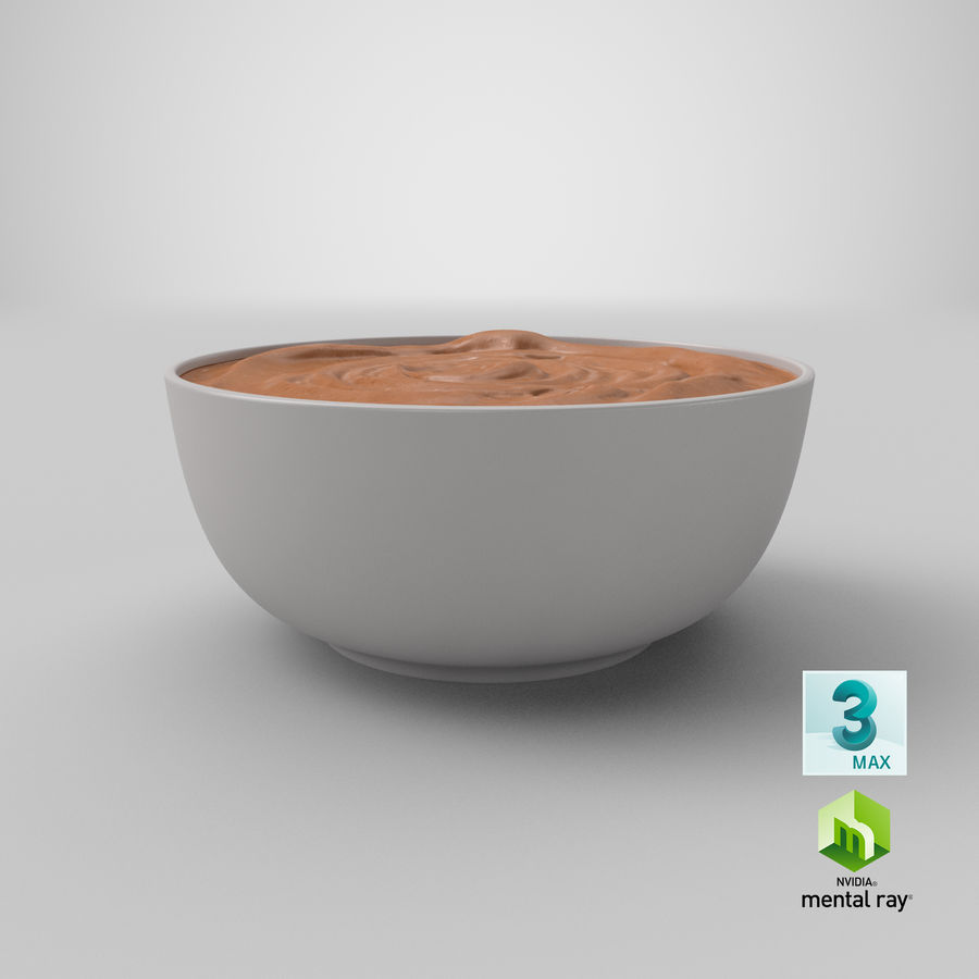 Peanut Butter in a Plate royalty-free 3d model - Preview no. 33