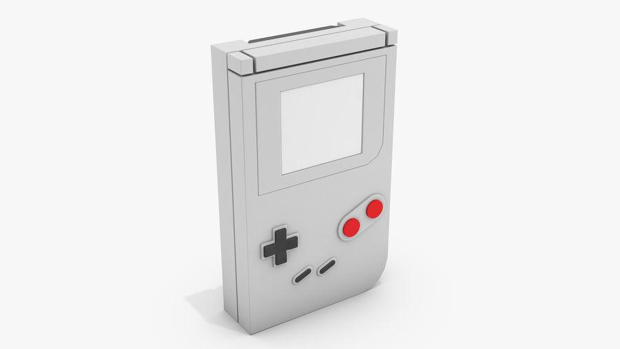 Consola de jogos portátil de 8 bits royalty-free 3d model - Preview no. 6