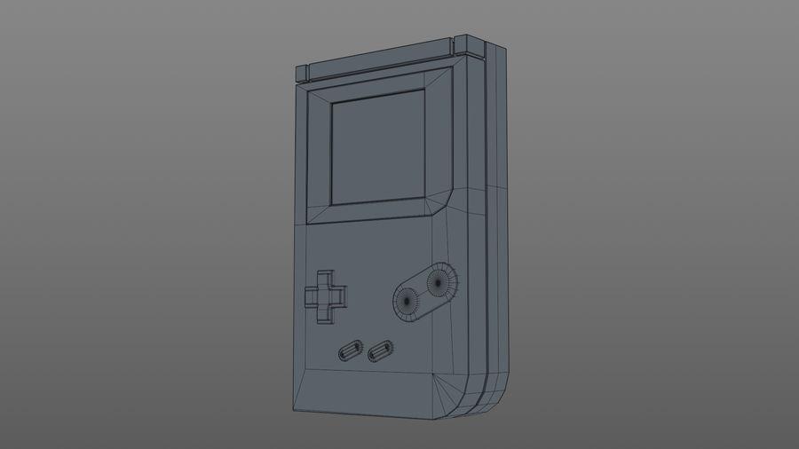 Consola de jogos portátil de 8 bits royalty-free 3d model - Preview no. 10