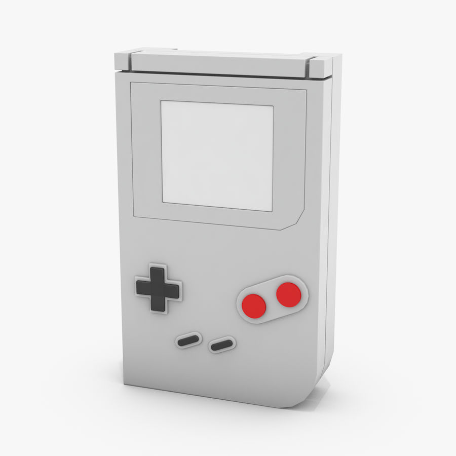 Consola de jogos portátil de 8 bits royalty-free 3d model - Preview no. 1