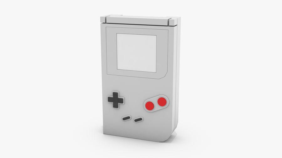 Consola de jogos portátil de 8 bits royalty-free 3d model - Preview no. 2