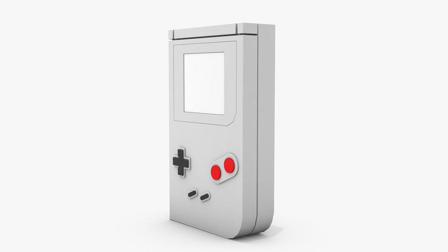 Consola de jogos portátil de 8 bits royalty-free 3d model - Preview no. 7