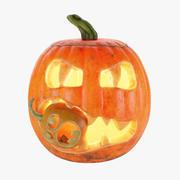 Halloween-pompoen eten 3d model