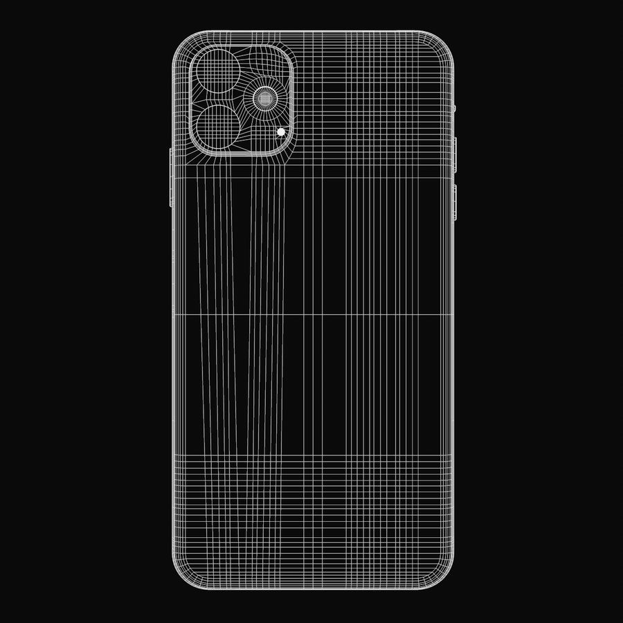 Iphone 11R royalty-free 3d model - Preview no. 9