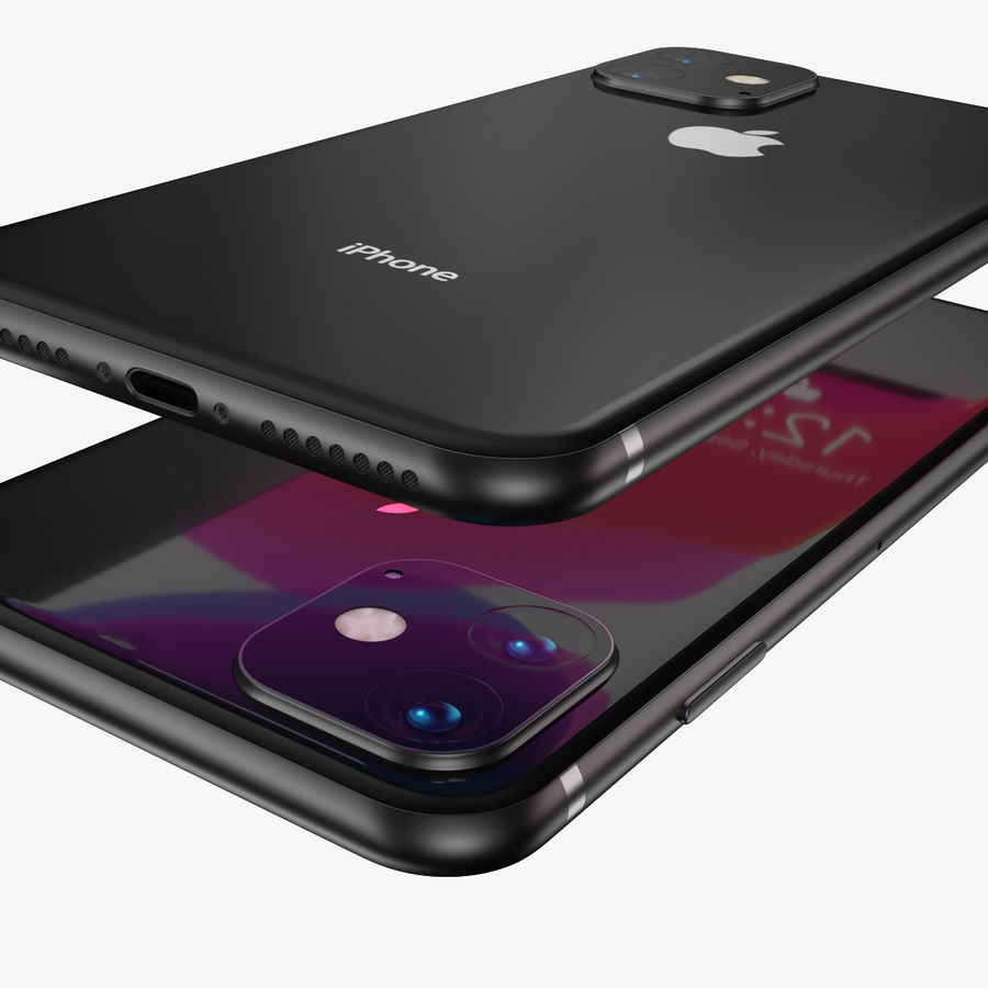 Iphone 11R royalty-free 3d model - Preview no. 8