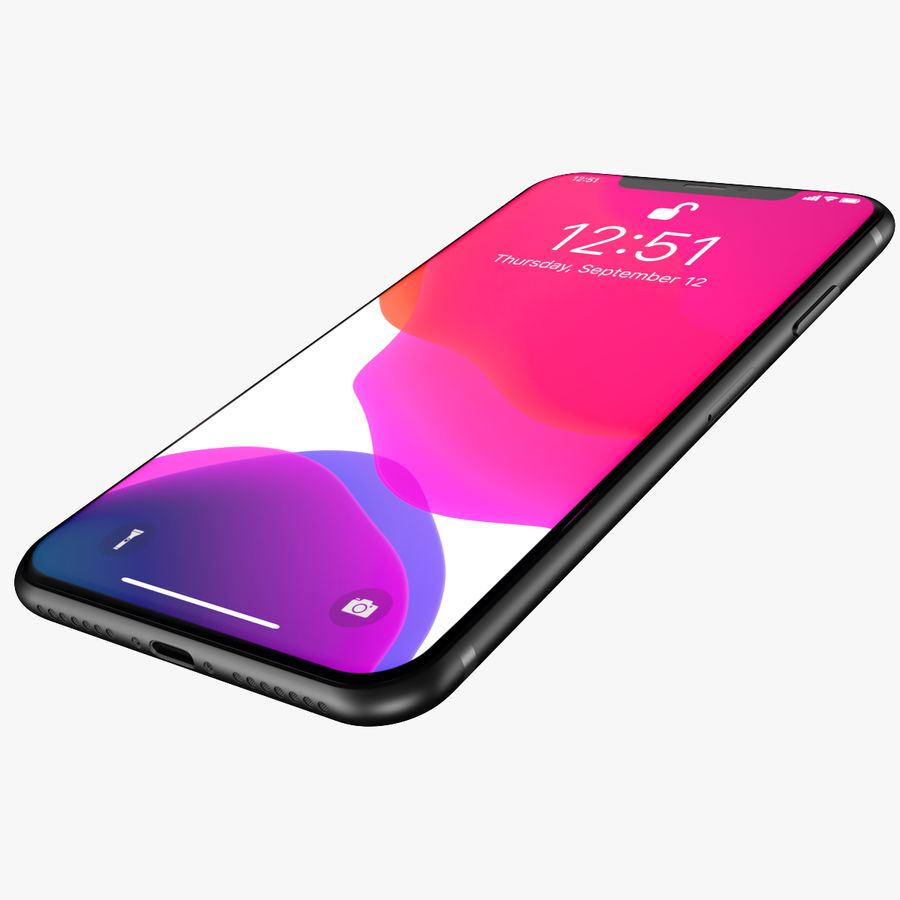 Iphone 11R royalty-free 3d model - Preview no. 4