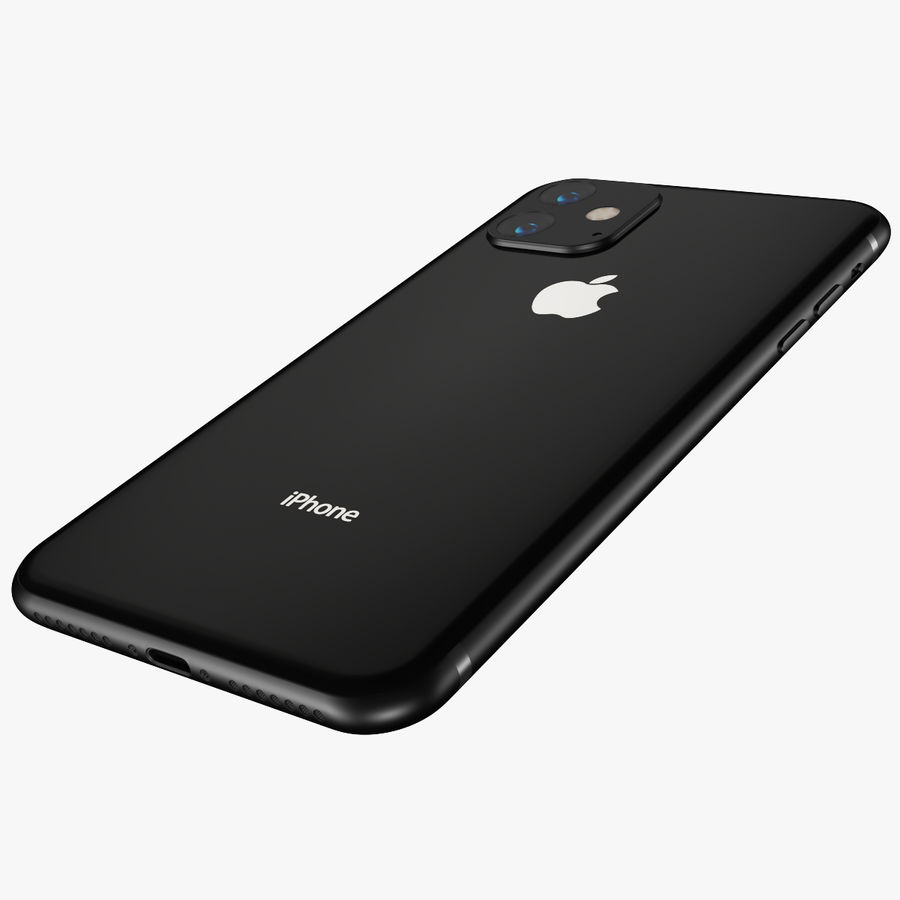 Iphone 11R royalty-free 3d model - Preview no. 3