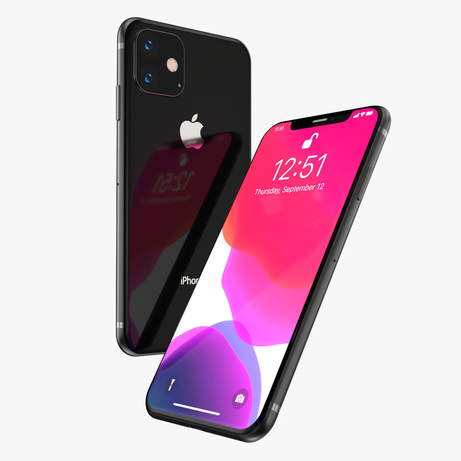 Iphone 11R royalty-free 3d model - Preview no. 5