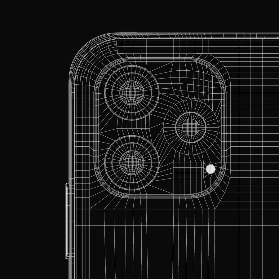 Iphone 11R royalty-free 3d model - Preview no. 17