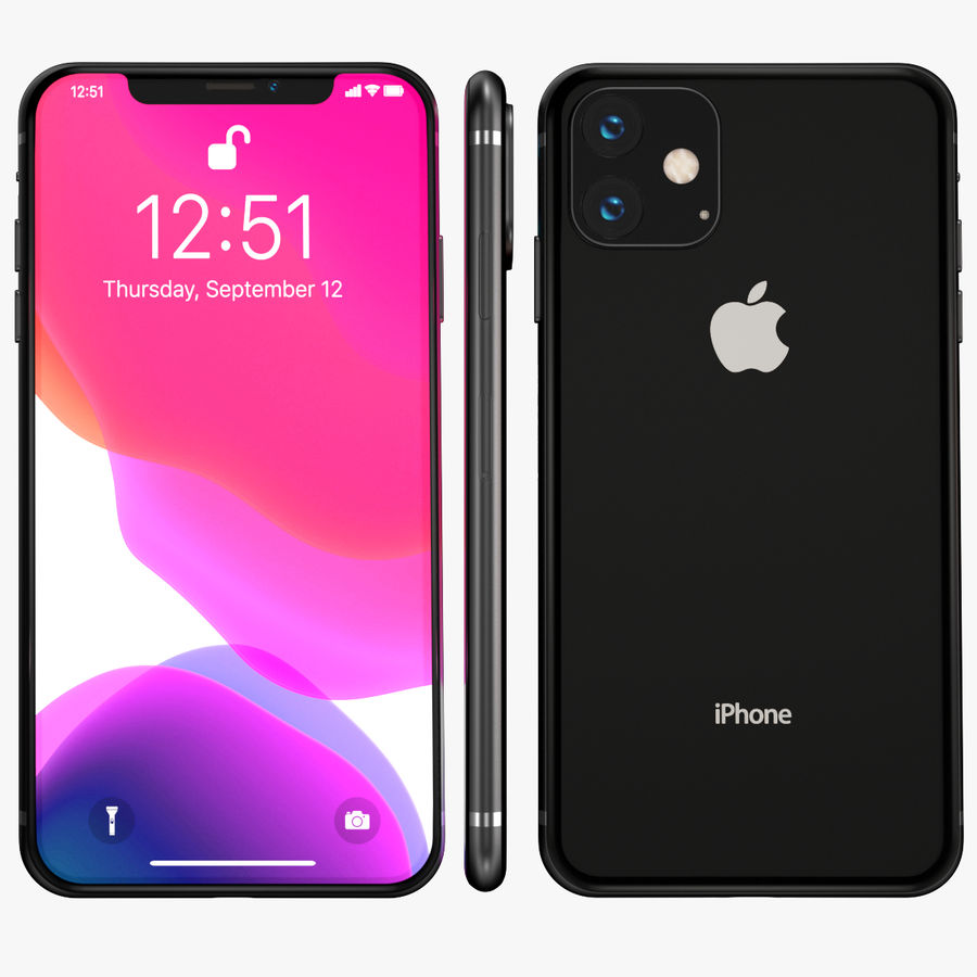 Iphone 11R royalty-free 3d model - Preview no. 2