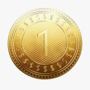 Moeda do dólar 3d model