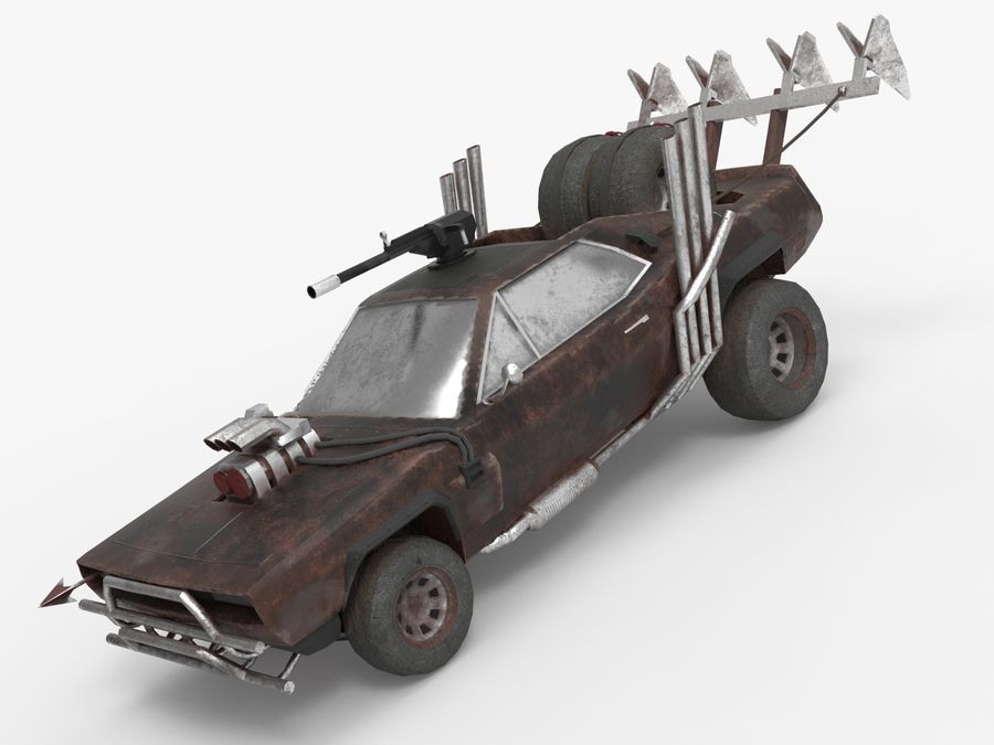 Mad Max Car - Rat Rod - Hot Rod Buggy Fury Road royalty-free 3d model - Preview no. 14
