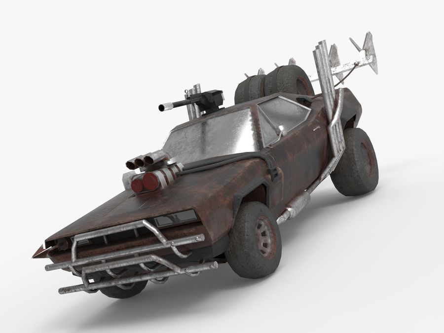 Mad Max Car - Rat Rod - Hot Rod Buggy Fury Road royalty-free 3d model - Preview no. 5