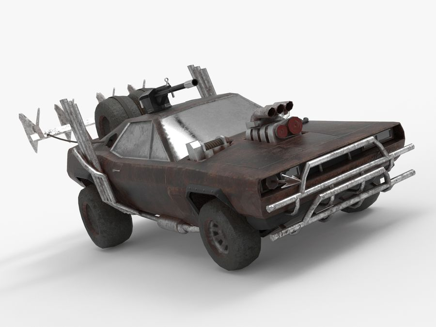 Mad Max Car - Rat Rod - Hot Rod Buggy Fury Road royalty-free 3d model - Preview no. 7