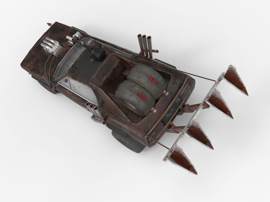 Mad Max Car - Rat Rod - Hot Rod Buggy Fury Road royalty-free 3d model - Preview no. 13