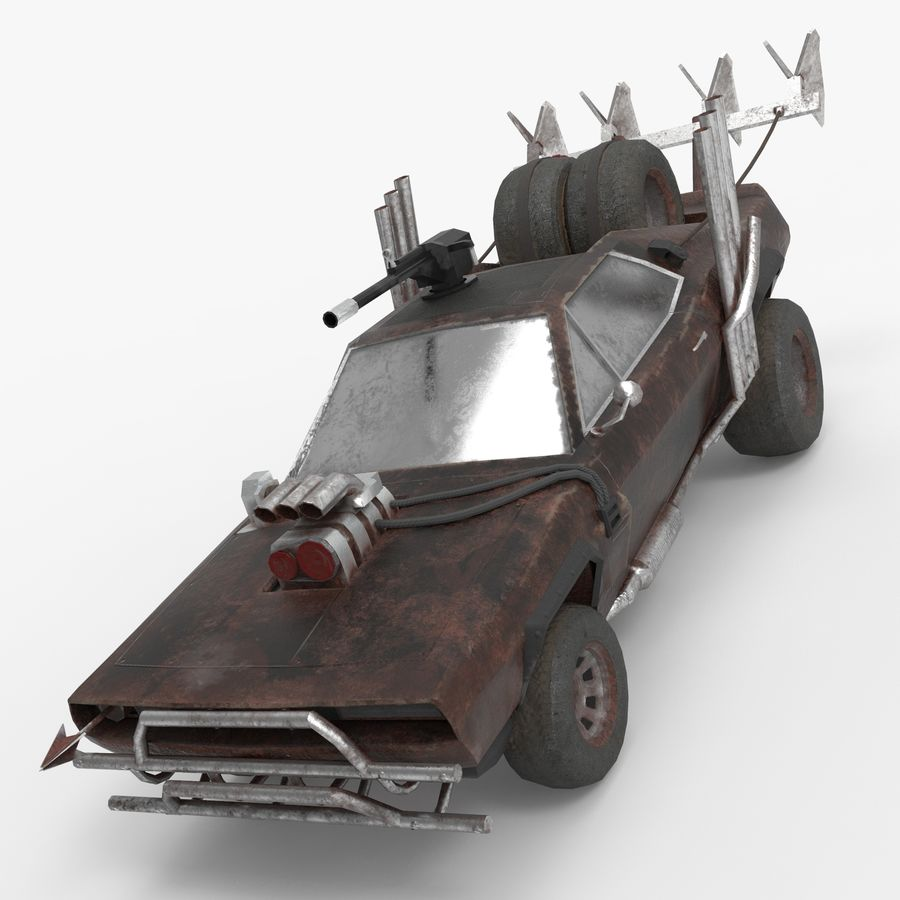 Mad Max Car - Rat Rod - Hot Rod Buggy Fury Road royalty-free 3d model - Preview no. 1