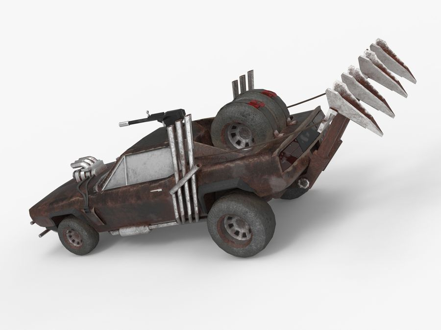 Mad Max Car - Rat Rod - Hot Rod Buggy Fury Road royalty-free 3d model - Preview no. 12