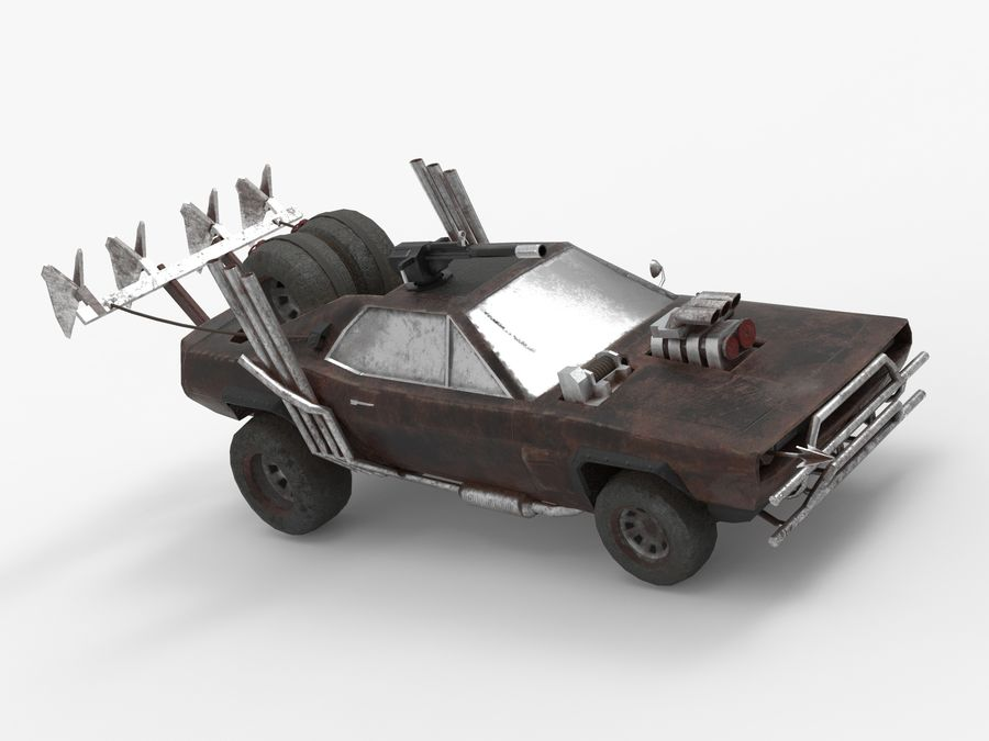 Mad Max Car - Rat Rod - Hot Rod Buggy Fury Road royalty-free 3d model - Preview no. 9