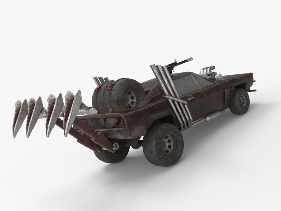 Mad Max Car - Rat Rod - Hot Rod Buggy Fury Road royalty-free 3d model - Preview no. 11