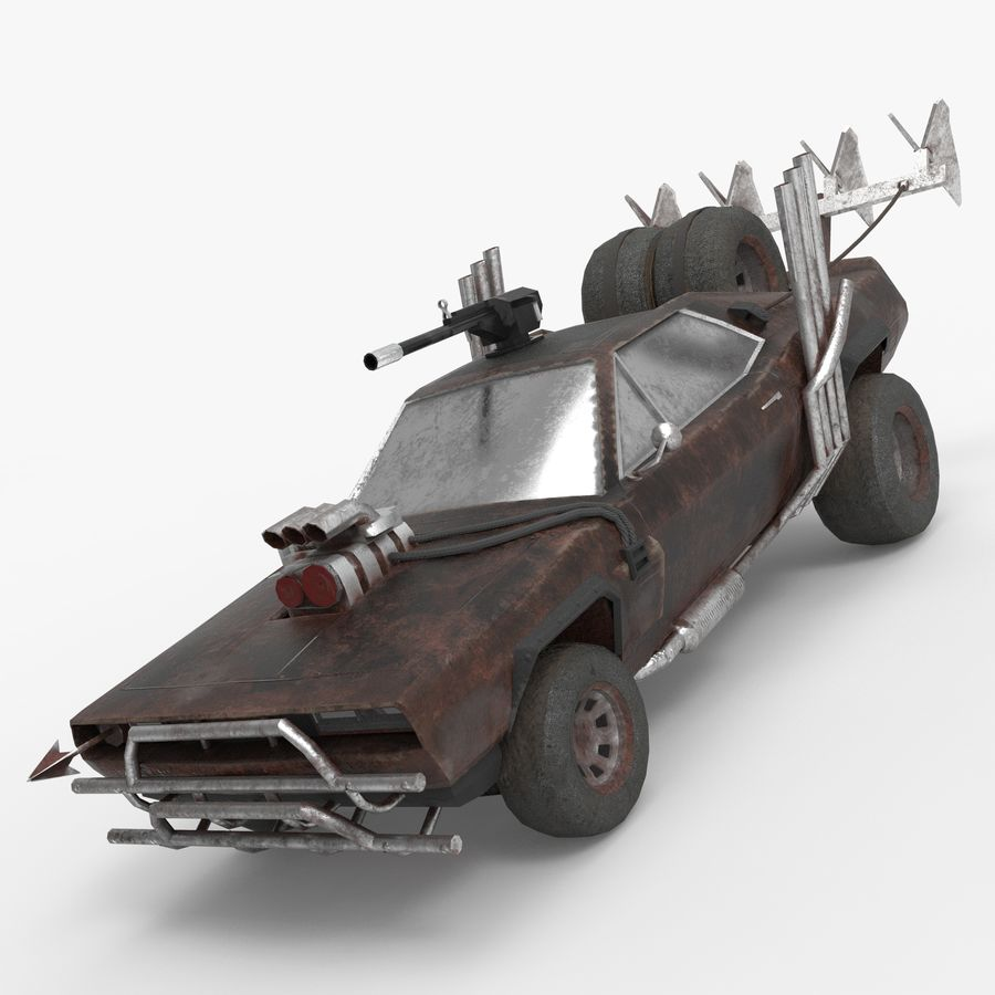 Mad Max Car - Rat Rod - Hot Rod Buggy Fury Road royalty-free 3d model - Preview no. 2