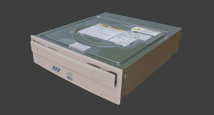 desktop computer DVD rom royalty-free 3d model - Preview no. 14