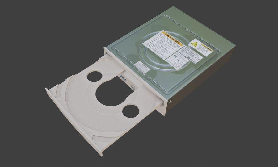 desktop computer DVD rom royalty-free 3d model - Preview no. 2