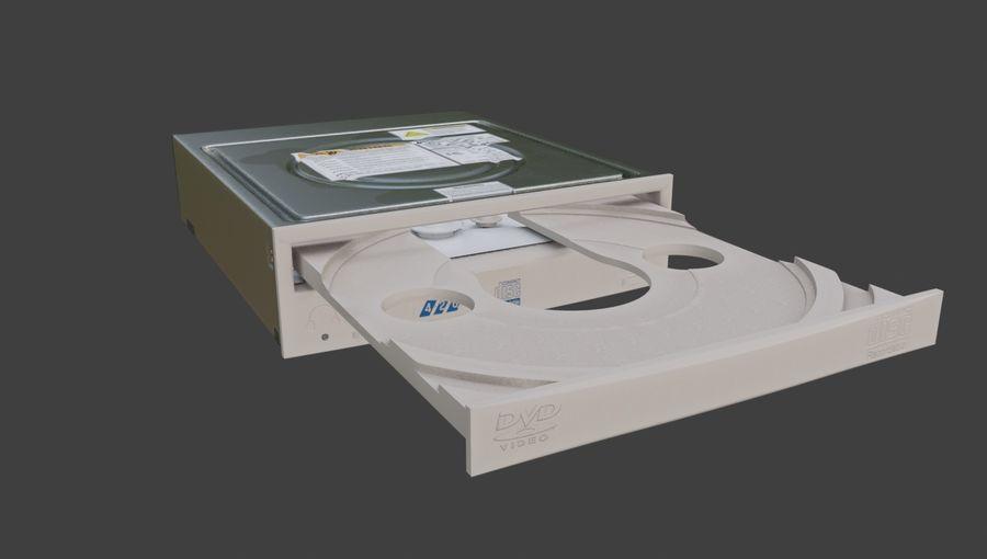 desktop computer DVD rom royalty-free 3d model - Preview no. 6