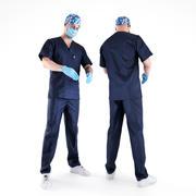 Chirurgien mâle 02 3d model