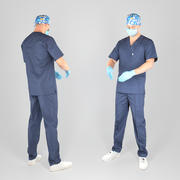 Male surgical doctor 02 3d model