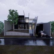 Dom z betonu 3d model