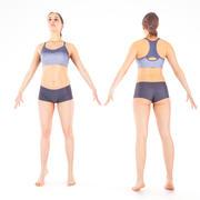Sport féminin en pose 20 3d model
