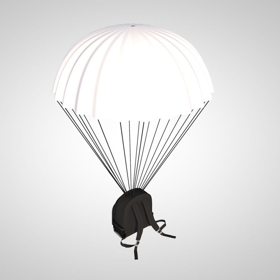 parachute royalty-free 3d model - Preview no. 4