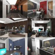 Office Interior 02 3d model