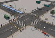 Road Street-collectie 3d model