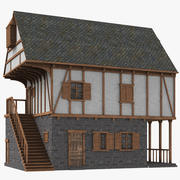 中世纪房屋02 3d model