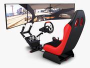 Racing Game Simulator Triple Display v 1 3d model