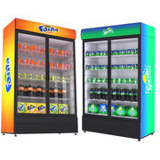 Fanta And Sprite Fridges 3d model