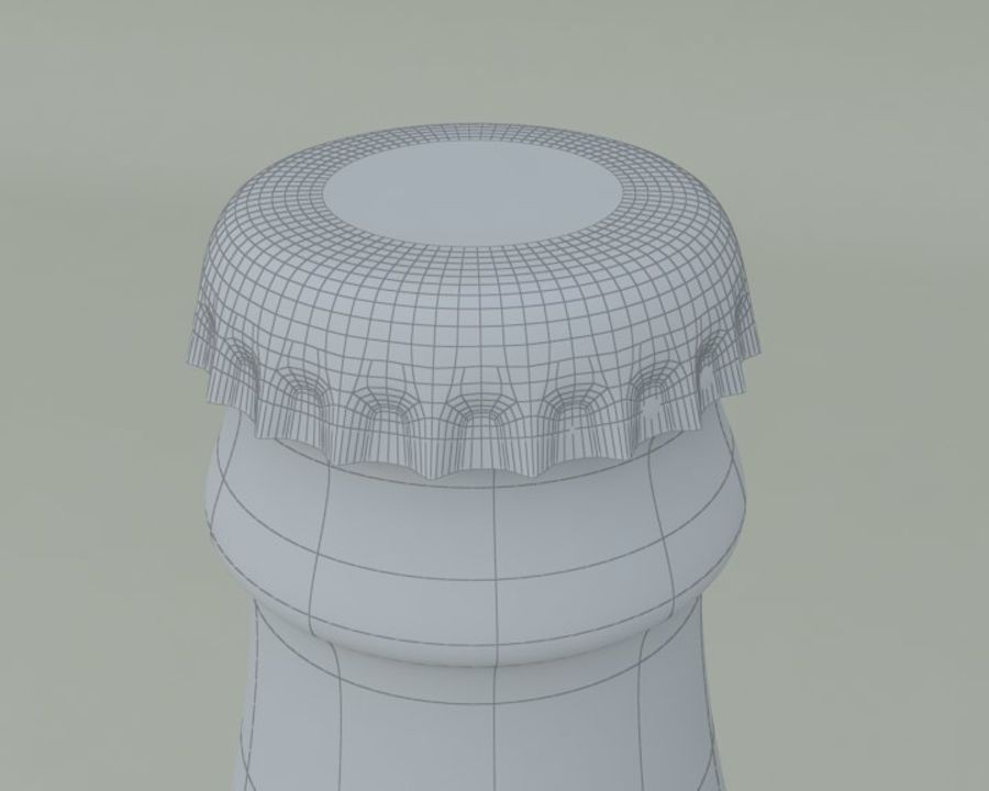 Bouteille de boisson froide royalty-free 3d model - Preview no. 6