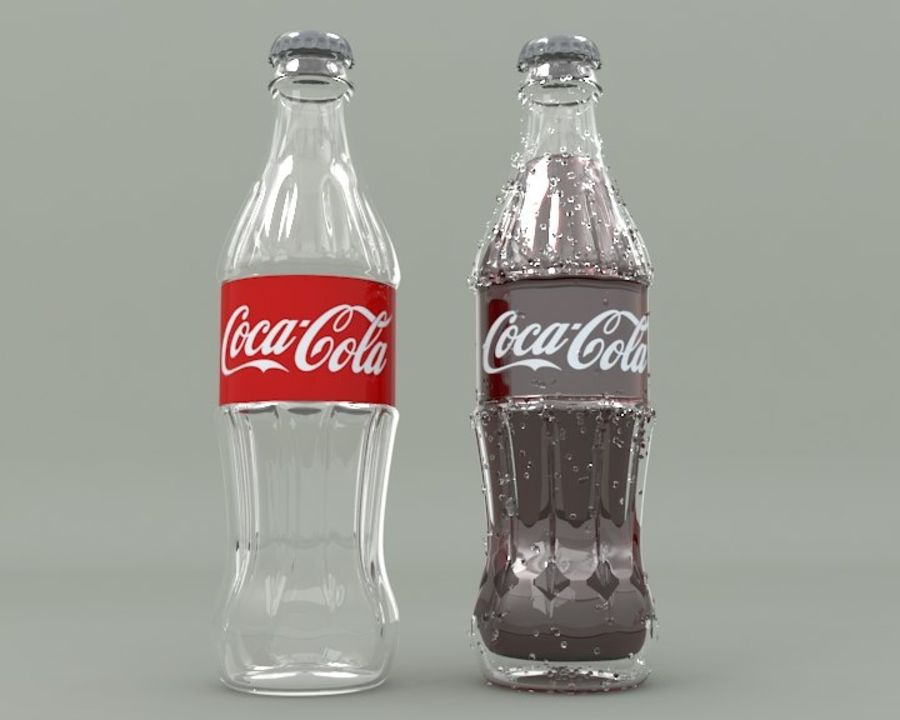 Bouteille de boisson froide royalty-free 3d model - Preview no. 2
