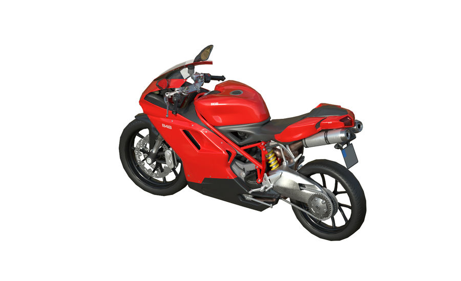 Ducati 848 royalty-free 3d model - Preview no. 6