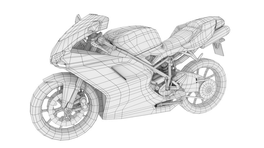 Ducati 848 royalty-free 3d model - Preview no. 10
