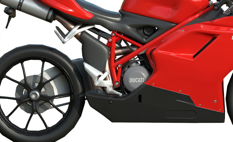 Moto Ducati 848 royalty-free 3d model - Preview no. 9