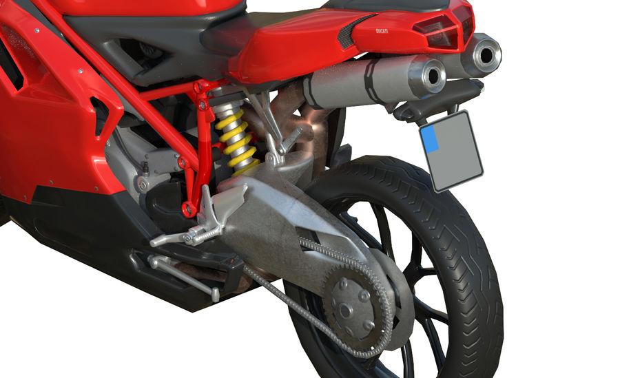 Moto Ducati 848 royalty-free 3d model - Preview no. 8