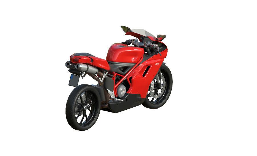Moto Ducati 848 royalty-free 3d model - Preview no. 5