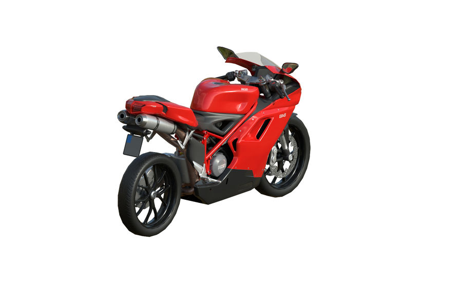 Ducati 848 royalty-free 3d model - Preview no. 5
