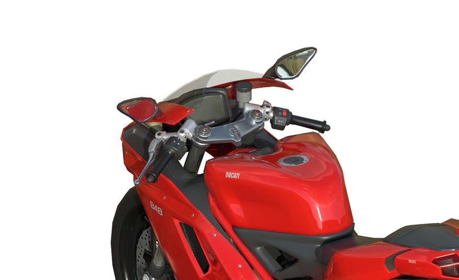 Moto Ducati 848 royalty-free 3d model - Preview no. 7