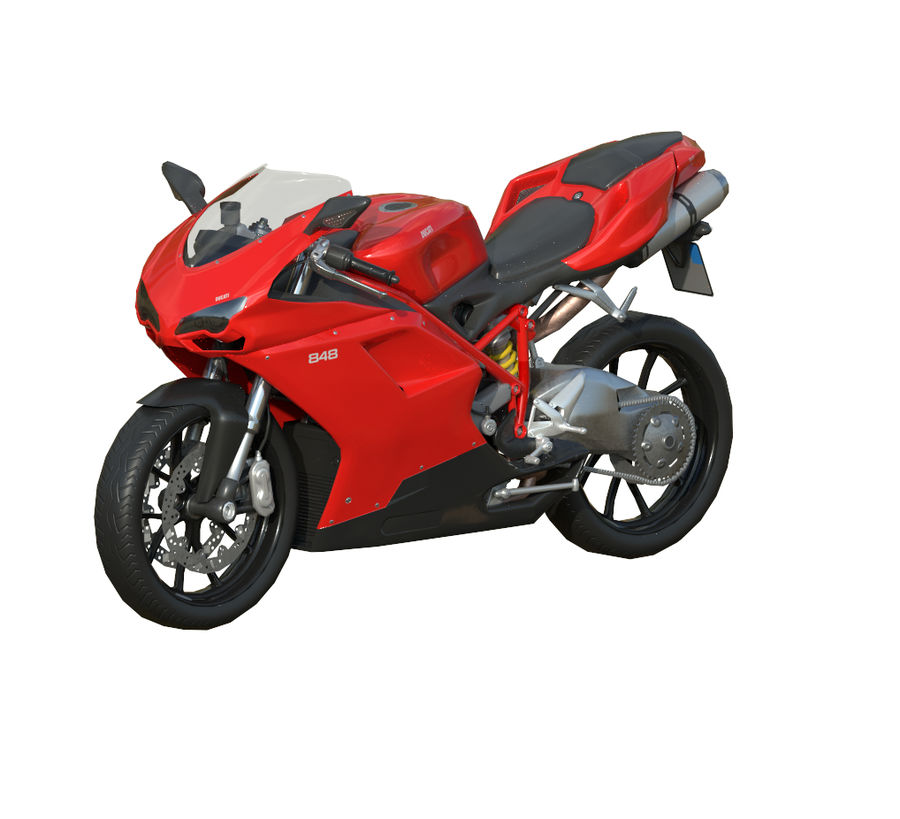 Ducati 848 royalty-free 3d model - Preview no. 1