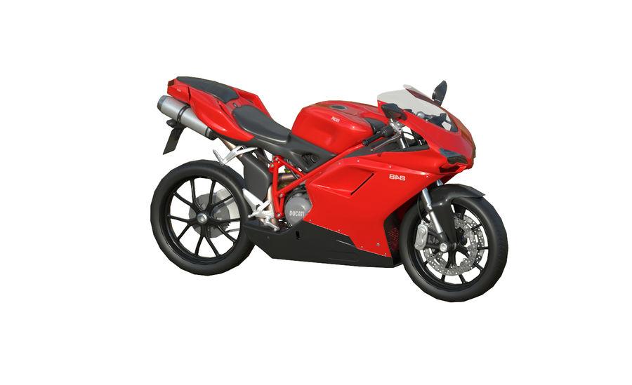 Moto Ducati 848 royalty-free 3d model - Preview no. 4