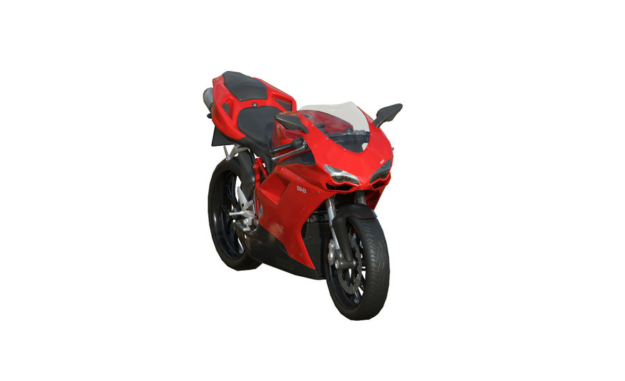 Ducati 848 royalty-free 3d model - Preview no. 3