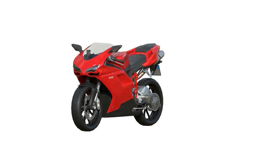 Moto Ducati 848 royalty-free 3d model - Preview no. 2